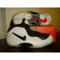 Nike Air Foamposite Black White Red