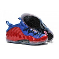 Nike Air Foamposite One Royal Blue Metallic Red