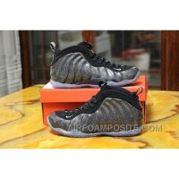 2016 Nike Air Foamposite One Grey Black Shoes 53009