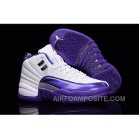 "2016 Air Jordan 12 GS ""Kings"" Purple White For Sale Free Shipping SeWSR"