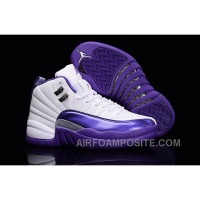 "2016 Air Jordan 12 GS ""Kings"" Purple White New Release PwxnPM"