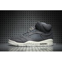 Air Jordan 5 Wool Dark Grey Online Mh4fYj