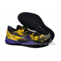 Cheap Kobe 8 Elite Shoes Yellow Lemon Black Club Purple 586156 103 Online