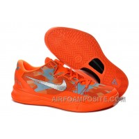 Cheap Kobe 8 Elite Shoes Lifestyle Orange Gray 586156 800 Online