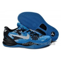 Hot Cheap Kobe 8 Elite Shoes Blue Black White 586156 401