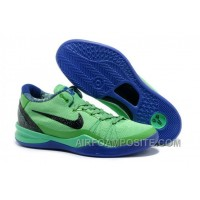 Hot Cheap Kobe 8 Elite Shoes Superhero Poison GreenBlackened Blue-Hyper Blue 586156-300