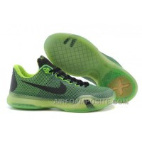 New Men's NK Kobe 10 X Elite Low Basketball Shoes Black Green