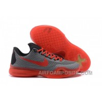 Men's NK Kobe 10 X ID Low Basketball Shoes Black Red New