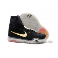 Cheap Kobe 10 Elite Rose Gold Black Golden XDR Top High
