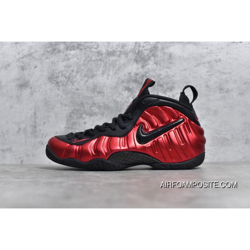 024fffa3ecd22 New Style P55 Nike Air Foamposite Pro Black And Red Bubble By 624041-604  Women ...