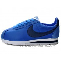 Nike Classic Cortez Nylon Game Royal Navy White Free Shipping Ize6PE