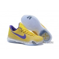 Cheap NikeiD Kobe 10 Safari Shoes Yellow Purple