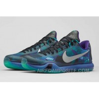 Discount Authentic Kobe 10 Emerald Glow Reflect Silver Court Purple New Arrival