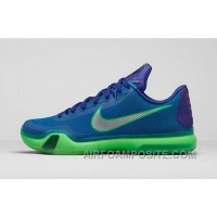 Discount Authentic Kobe 10 Deep Royal Metallic Silver Green Shock New Arrival