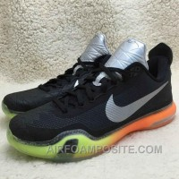 Online Authentic Kobe 10 Shoes All Star Black Silver Orange Volt
