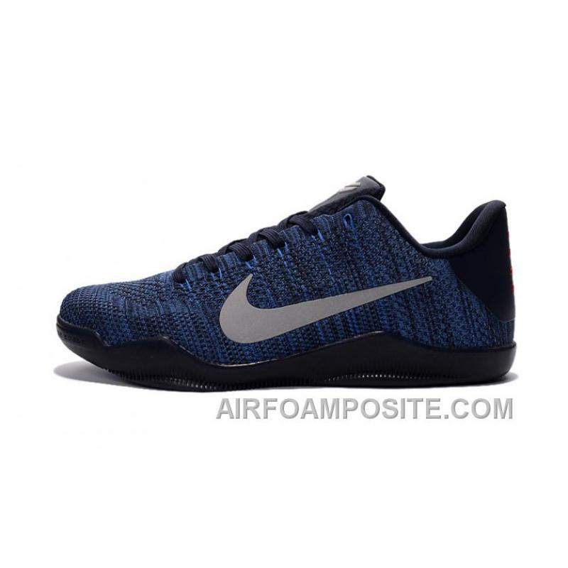 nike kobe 11 flyknit blue basketball shoes discount price. Black Bedroom Furniture Sets. Home Design Ideas