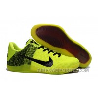 Nike Kobe 11 Green/Black-Volt Basketball Shoes For Sale New