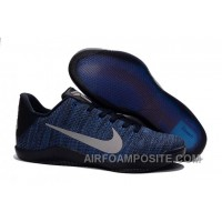 Nike Kobe 11 Flyknit Blue Basketball Shoes For Sale New