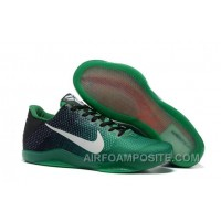 Nike Kobe 11 Black Green Shoes For Sale Online Outlet Discount