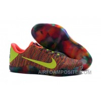 Nike Kobe 11 Elite Weave Colourful Basketball Shoes For Sale Discount