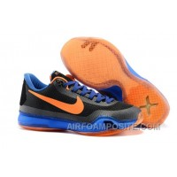 Nike Kobe X 10 Away Black Blue Orange New