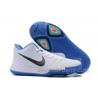 Nike Kyrie 3 Mens BasketBall Shoes White Blue Discount T6TMm