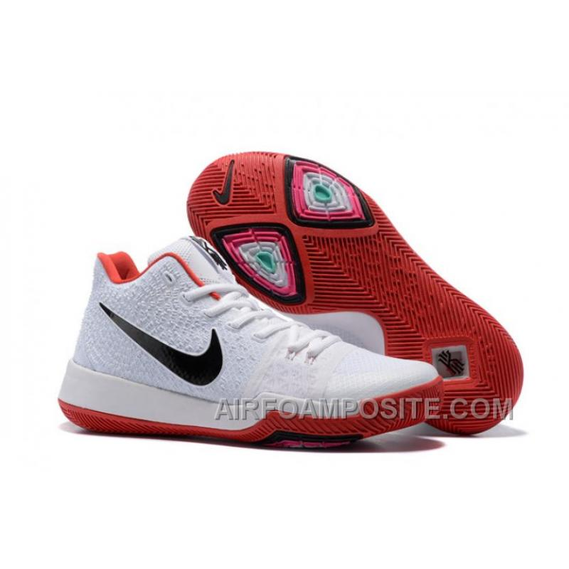Nike Kyrie 3 Mens BasketBall Shoes White Red Lastest QmPijZs