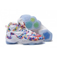 """Nike LeBron 13 """"Prism"""" Multi-Color/University Red-White Basketball Shoes WPCPe"""