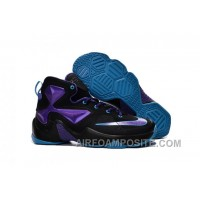 Nike Lebron 13 Hornets Club Purple Black Vivid Blue For Cheap Y5Hba
