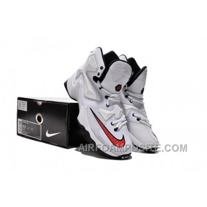 Nike LeBron 13 Wolf Grey Cool Grey White University Red Black AzR8J
