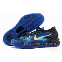 854-215535 Nike Zoom Kobe 8 Shoes Mesh Blue Black Grey New Arrival