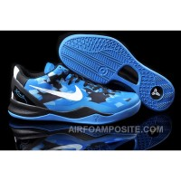 854-215554 Nike Zoom Kobe 8 VIII Shoes Blue Black White New Arrival
