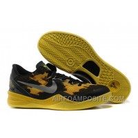 854-215537 Nike Zoom Kobe 8 Shoes Mesh Black Yellow Grey New Arrival