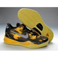 854-215518 Nike Kobe 8 2013 Playoffs Black Gold Running Shoes New Arrival
