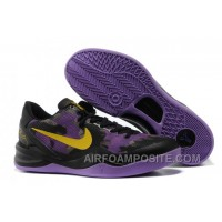 854-215543 Nike Zoom Kobe 8 Shoes Mesh Purple Black New Arrival