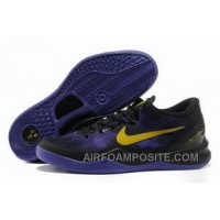 854-215541 Nike Zoom Kobe 8 Shoes Mesh Purple Black Gold New Arrival
