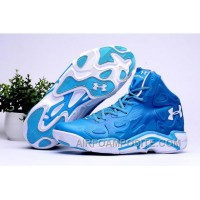 2016 Under Armour Micro G Anatomix Spawn 2 Mens Shoes Blue White Sneakers Top Deals YTY2dE