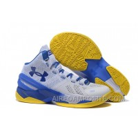 Under Armour Curry Two White Blue Yellow X3SQM