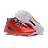 Under Armour Stephen Curry 3 Shoes White Blue Red Shoes ESRt3