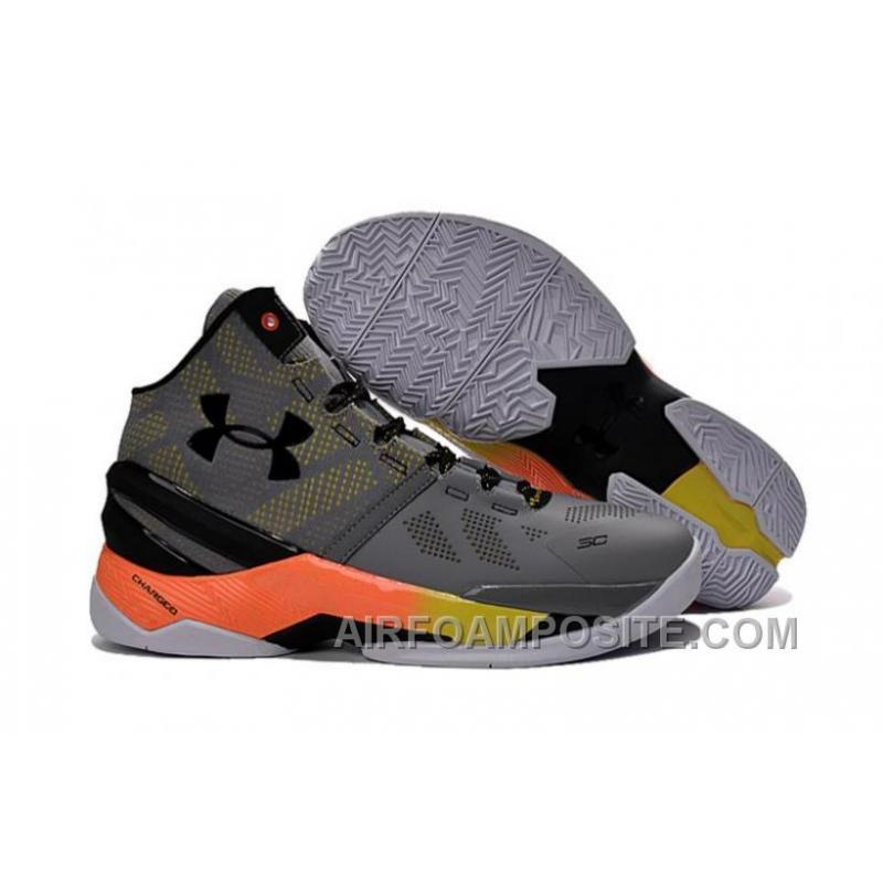 UA Curry 2 Under Armour Stephen Curry 2 Orange Grey Shoes 8PRBc