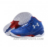 Under Armour Stephen Curry 2 Shoes Blue Red White KPEMX
