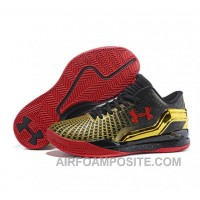 Under Armour ClutchFit Drive Low Stephen Curry Shoes Gold Black Red WdJHP