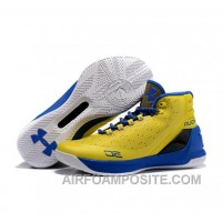 Under Armour Stephen Curry 3 Shoes Yellow Blue White Rs4JZ