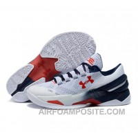 Under Armour Stephen Curry 2 Low White Red 6fft2