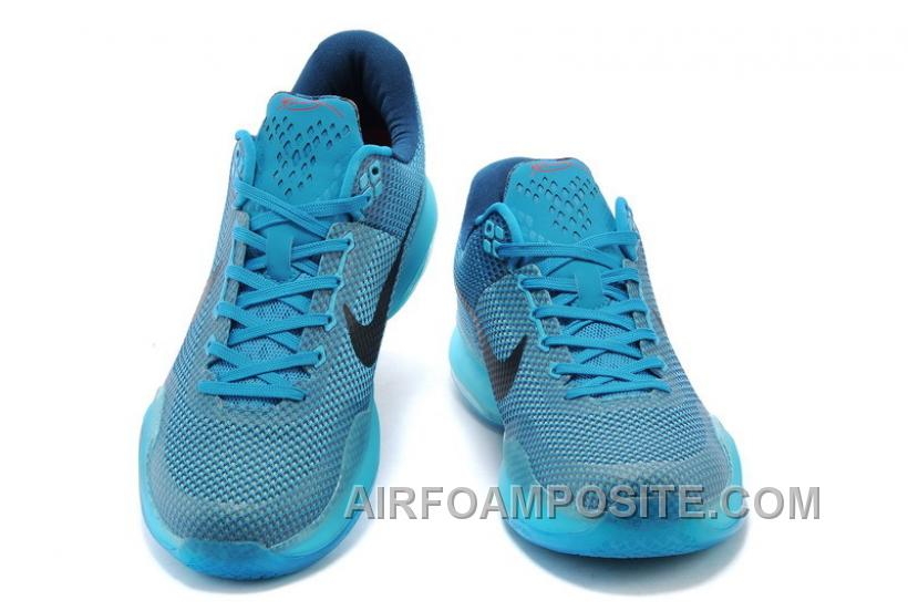 Cheap Nike Kobe 10 Blue Lagoon/Black-Vapor Green Mens For Sale