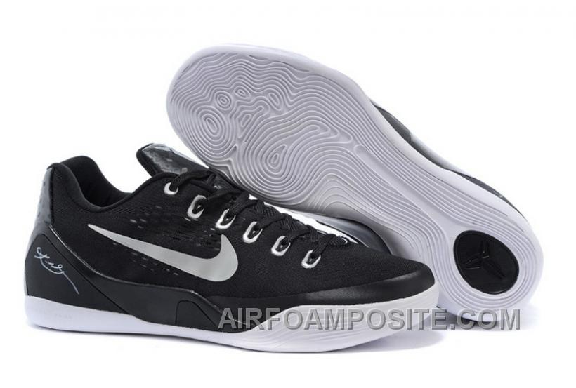 Discount Cheap Nike Kobe 9 EM TB Black/Metallic Silver-White For Sale