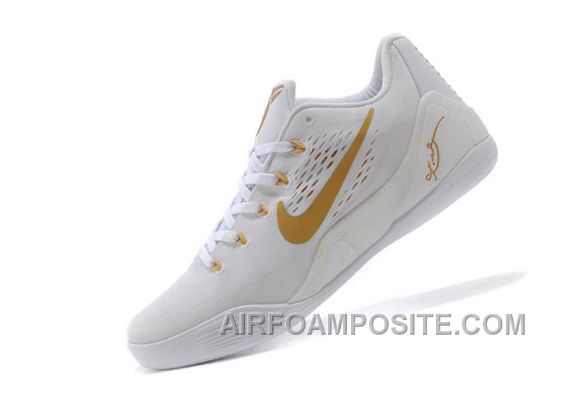 Nike Kobe 9 Low EM White Gold For Sale New 311774
