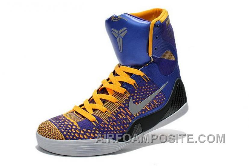 96ef2999ef4d Buy Cheap Nike Kobe 9 2014 High S Blue Yellow Black Mens Shoes Top Deals  XxATR