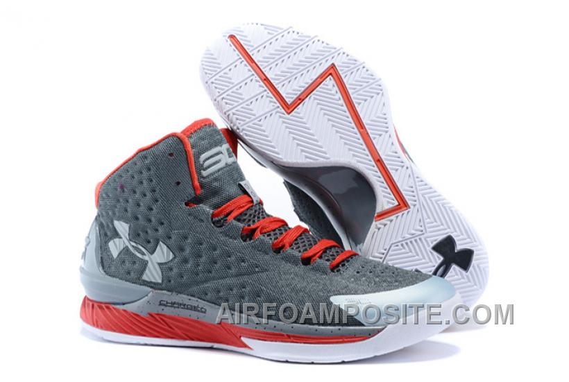 "Under Armour UA Curry One ""Underdog"" Grey Red Shoes For Sale WEf7E"