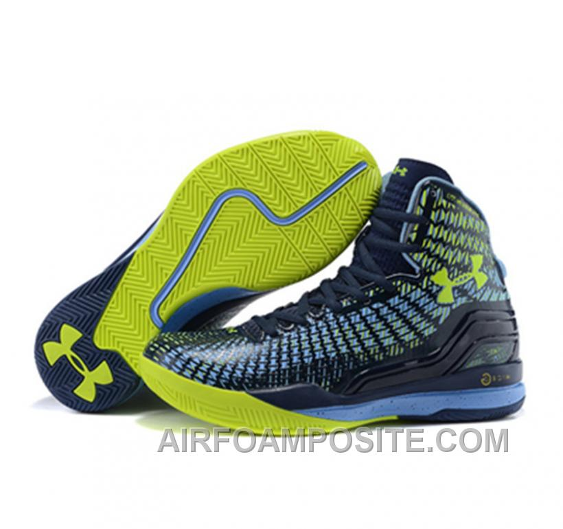 quality design 8e45e fd0eb UA Curry 2 Under Armour Stephen Curry 2 Black Yellow Blue Shoes Tek8x